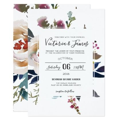 Vintage Garden Wedding Invitation Invitations Personalize Custom