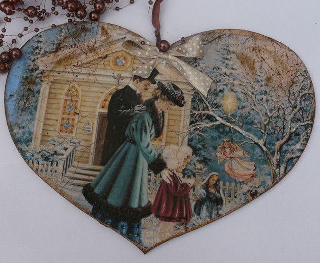 Serduszko Vintage - EskiFloreski - Dekoracje bożonarodzeniowe