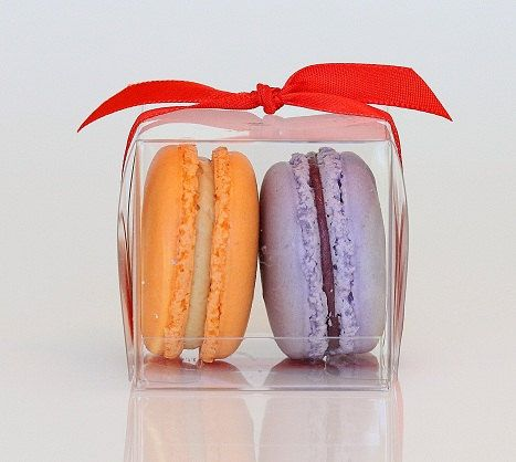 Cute idea for favors! Two French Macarons by nicoleleechocolates on Etsy