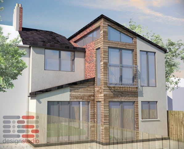 A Semi-detached property required a two storey extension to the rear and side to accommodate the families growing need for space. The proposed development will create a modern spacious extension. The new spacious kitchen, dining room and the main bedroom with an en-suite will provide an increased and improved house for the client and their family to live in.