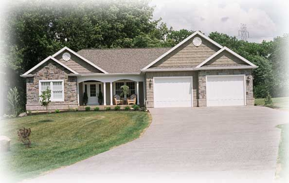 A ranch style home with two car garage visit www for Ranch style house with garage