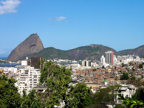 The Park of Ruins in Santa Teresa offers a great 360° view of the Rio Skyline. Here with the Sugar Loaf in front of the Botafogo and Flamengo Beach area.