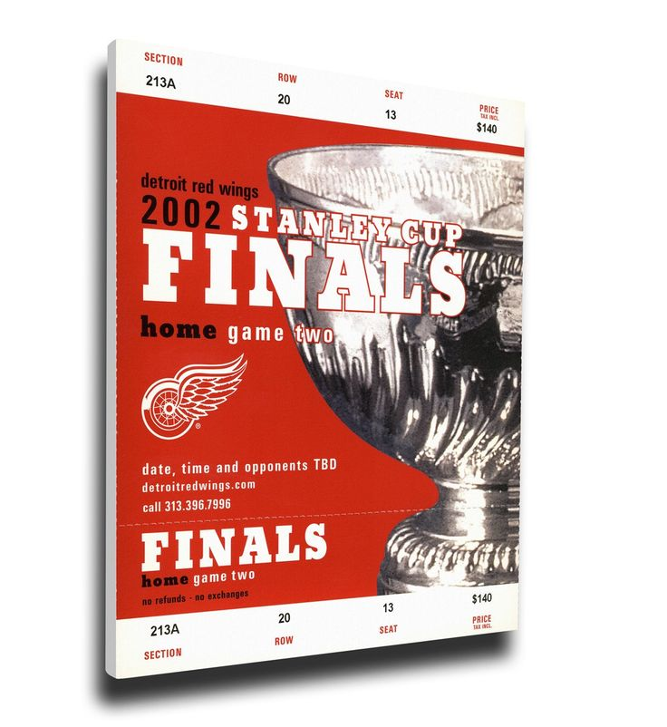 Detroit Red Wings Wall Art - 2002 NHL Stanley Cup Finals Canvas Mega Ticket