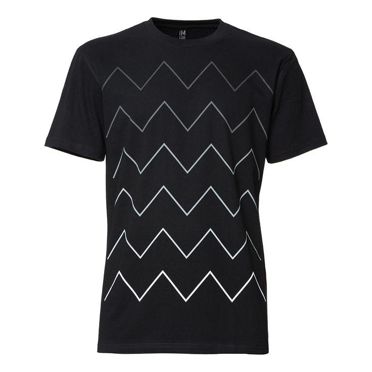 THOKKTHOKK Thin ZigZag Gradient T-Shirt Black