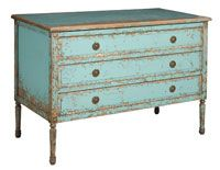Love this!  I have an old dresser that I'm working on now, just have to fix the drawers and do some distressing.  It'll make a great tv console/game storage or buffet .. : Ideas, Painted Furniture, Color, Shabby Chic, Dresser, Jolie Chest, Robins Egg