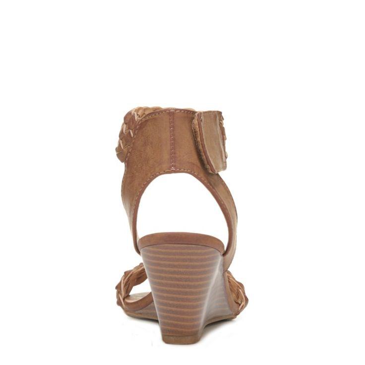 XOXO Women's Sonnie Wedge Sandals (Tan) - 10.0 M