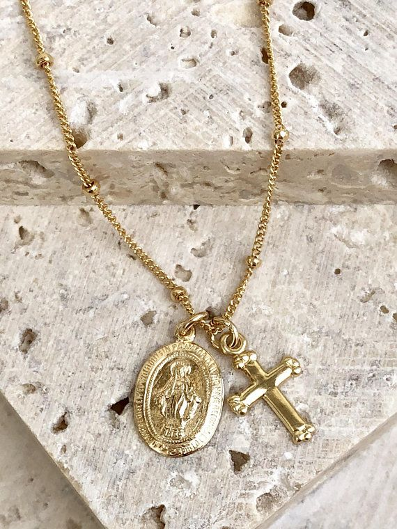 d9566b054505 Dainty Virgin Mary Necklace