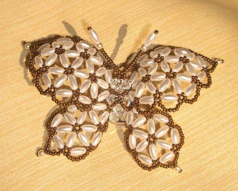 Бабочка | biser.info - всё о бисере и бисерном творчестве