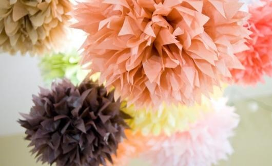 How to Make Paper Poms from the Lilyshop Blog @Lilyshop