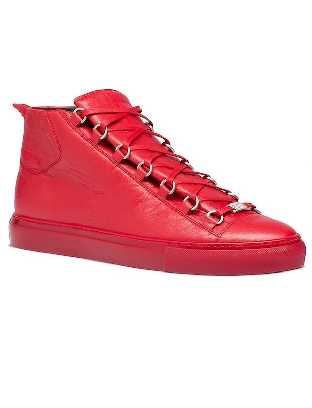 Balenciaga Arena High Top Sneakers Wrinkled Leather Trainers Men's Shoes │ Represented By Kanye West, Usher