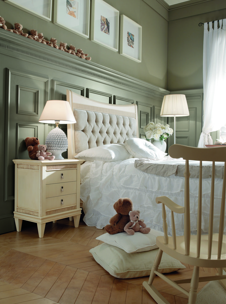Delicate and suggestive images. The children's bedroom, Desideri collection