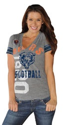 HOT ITEM: Chicago Bears Women's Grey Big Play Tri-Blend Deep V-Neck T-Shirt  http://www.fansedge.com/Chicago-Bears-Womens-Navy-Big-Play-Tri-Blend-Deep-V-Neck-T-Shirt-_-1970157001_PD.html?social=pinterest_pfid28-31994