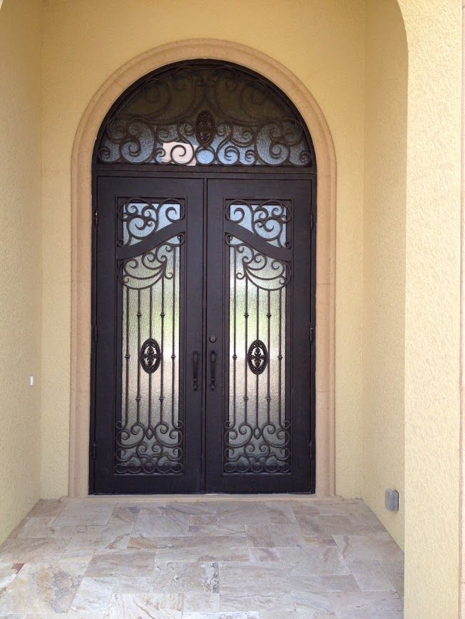 This gorgeous wrought iron door screams luxury! #irondoors #doubledoors #iron #cooldoors & 59 best Elegant Wrought Iron Doors images on Pinterest | Wrought ...