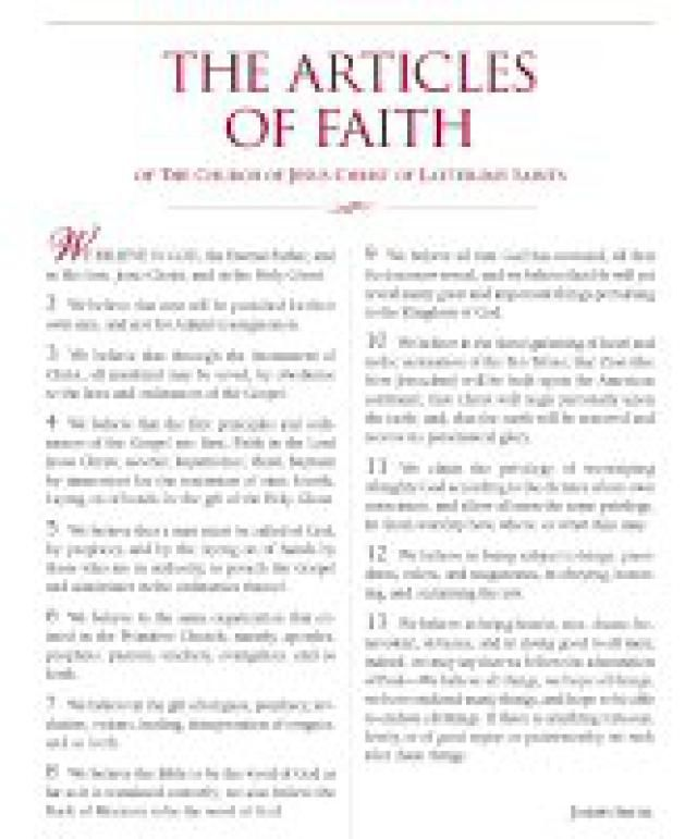 What Mormons Believe: Learn the 13 Articles of Faith: Articles of Faith Poster