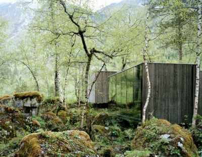 juvet hotel, valldal, norway | jensen & skodvin architects, photo by rasmus norlander