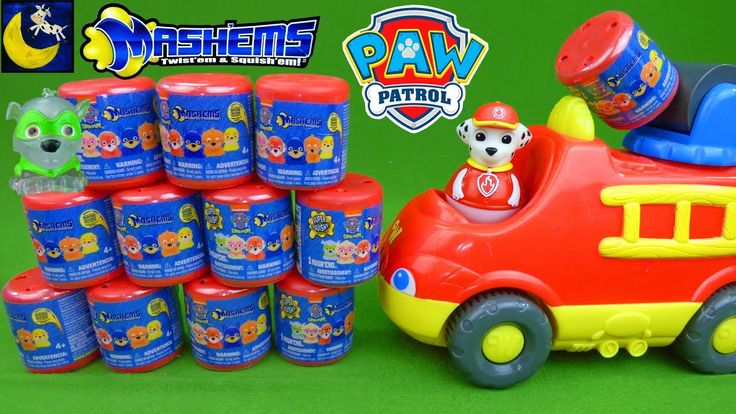Paw Patrol Toys NEW Mashems Series 4 Crystal Squishy Stretch Surprise Blind Bags Marshall Toys Video - YouTube