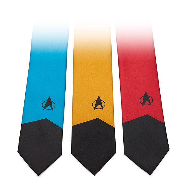 These 100% polyester Star Trek: The Next Generation ties come in three colorways: Command Red, Engineering/Ops Gold, and Sciences Blue.