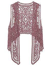 dc42fe4b45 Pirate Curiosity Open Stitch Cardigan Boho Hippie Crochet Vest ...