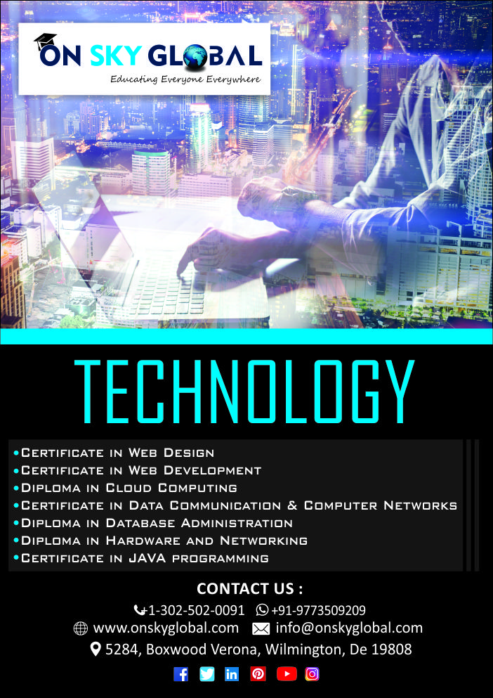 Technology Courses On Sky Global Web Design Certificate Technology Computer Network