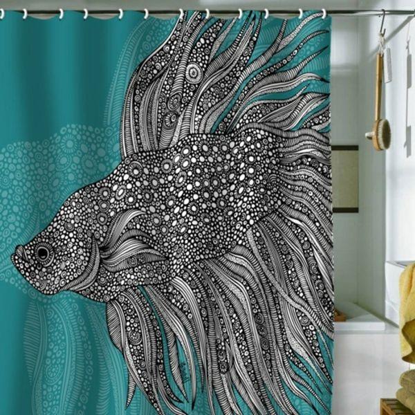 Les 125 meilleures images du tableau rideaux de douche sur - Rideau de douche tableau periodique ...