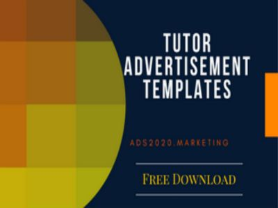 advertisement template