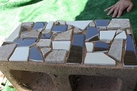 delicateCONSTRUCTION: Mosaic Cinder Block Planter- Part One