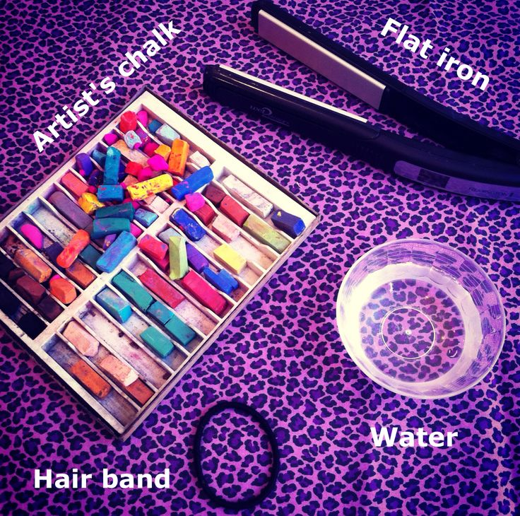 hair chalk tutorial-with pictures