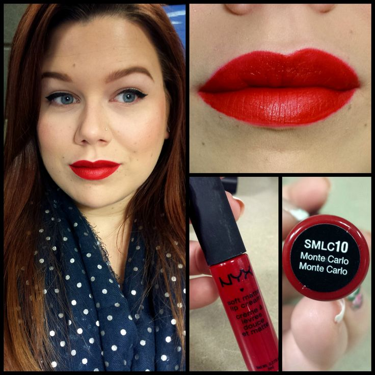 Nyx Matte Lip Cream Red