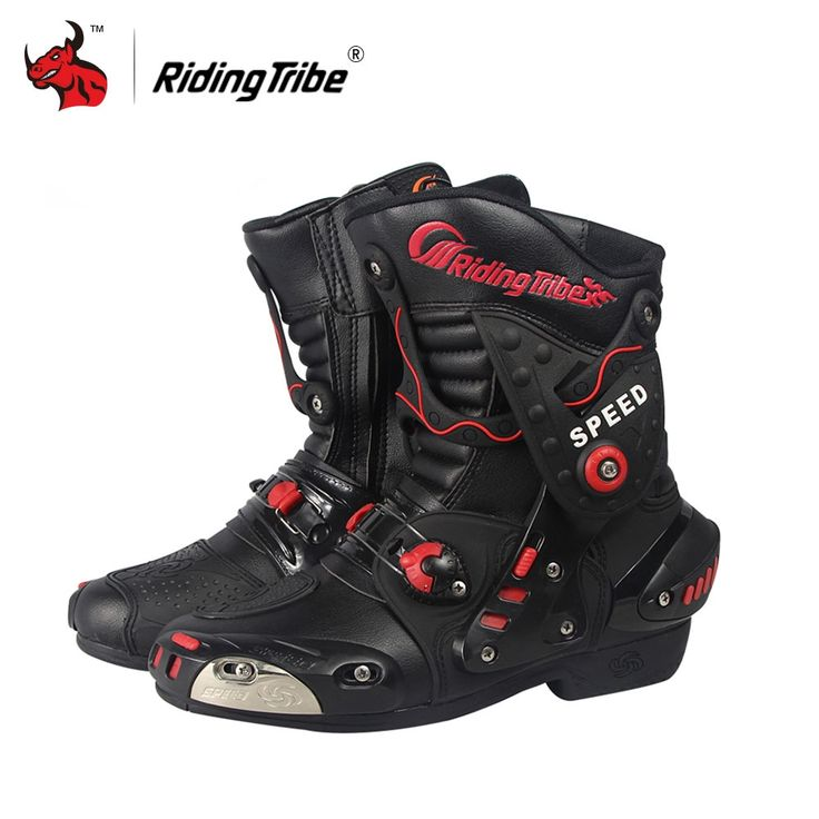 88.00$  Buy here - Riding Tribe Speed Motorcycle Boots PU Leather Mid-Calf Boots Breathable Motocross Off-Road Racing Shoes Botas De Motociclista  #magazine
