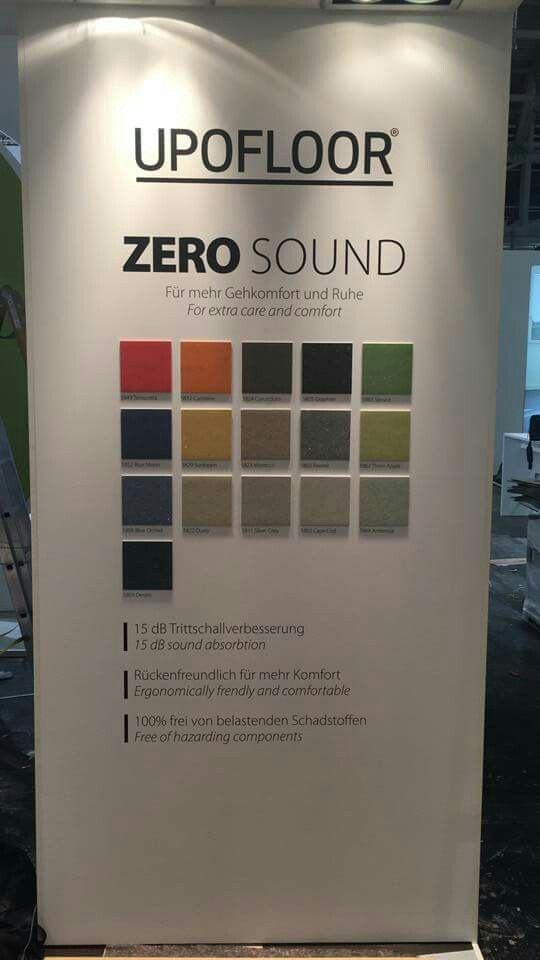 Upofloor Zero Sound launched in BAU fair 2017 (Product development engineer Sanna Weiström)