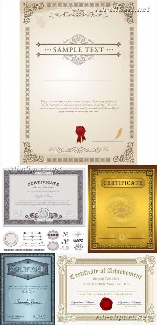 Шаблоны сертификатов в векторе | Vector sertificates::