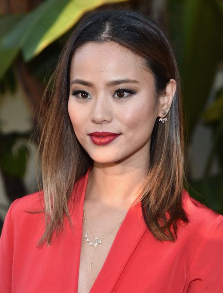 Jamie Chung Medium Straight Cut - Shoulder Length Hairstyles Lookbook - StyleBistro
