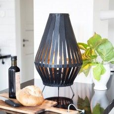 Leatherlike table lamp in kitchen Remy WIS Design