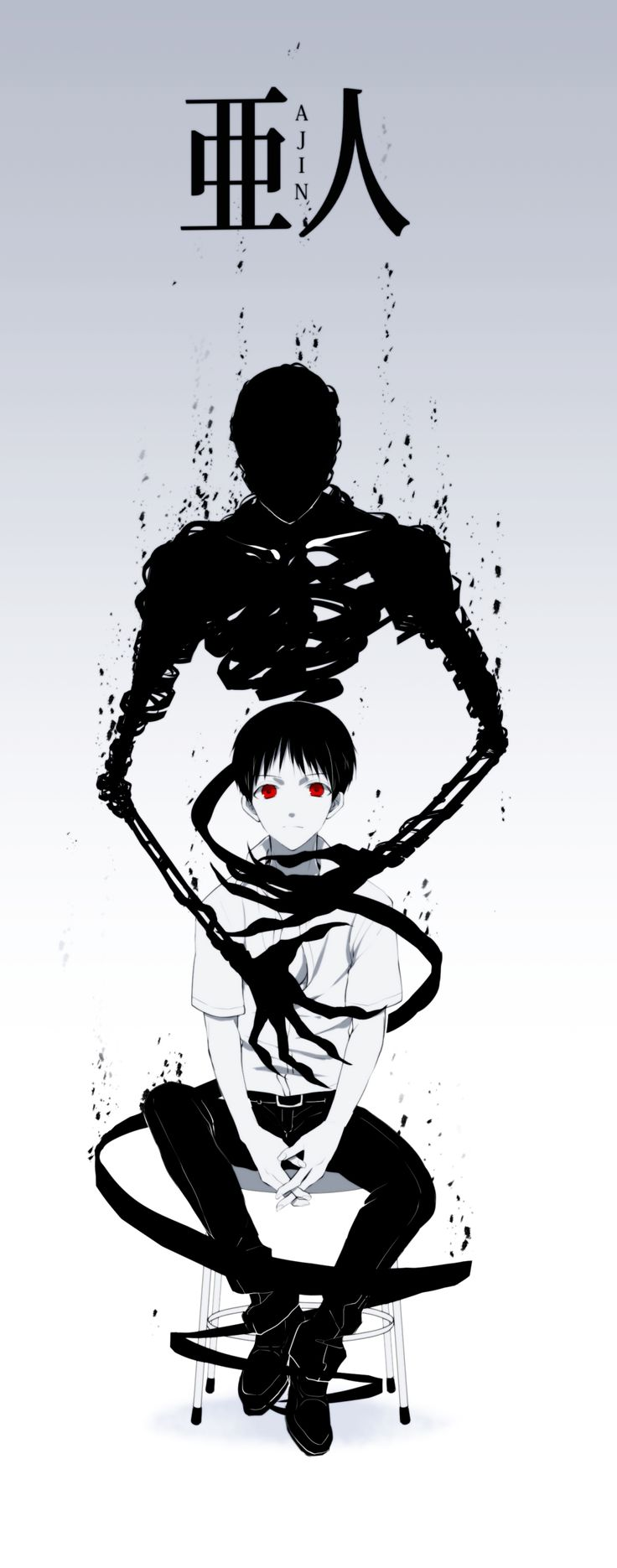 Ajin. Absolutely obsessed with this dark anime show.