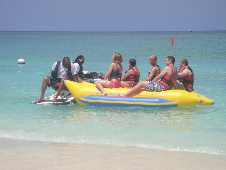 Banana boat in Grand Cayman! This was soooo much fun!