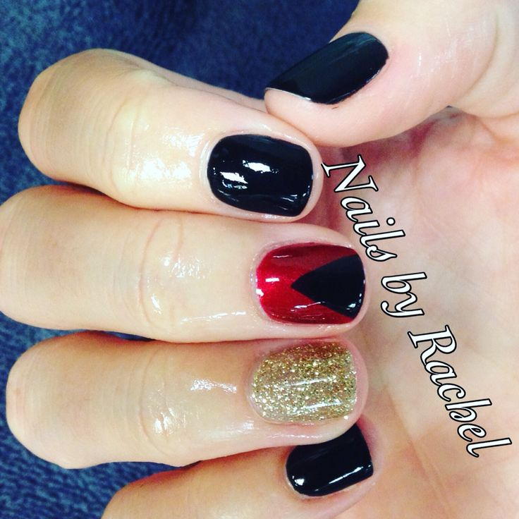 Queen Gel Nail Polish: Queen Of Hearts And Black Pool Gel Polish