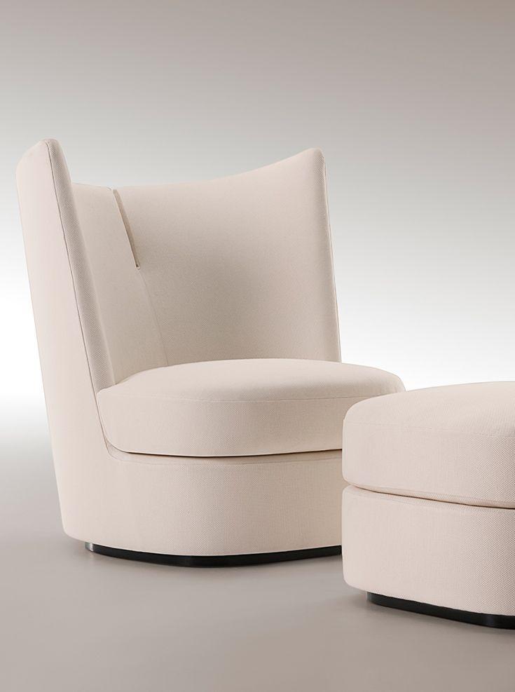 Contour armchair with ottoman | Paul Mathieu