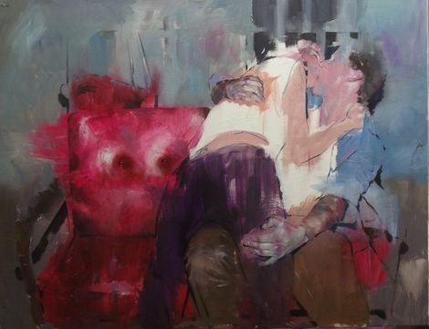 Szabolcs Szolnoki, Cold hands 2013, 100x130cm_oil and acryl on canvas
