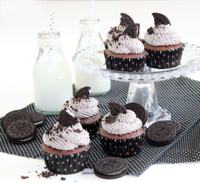 Cupcakes oreo para thermomix
