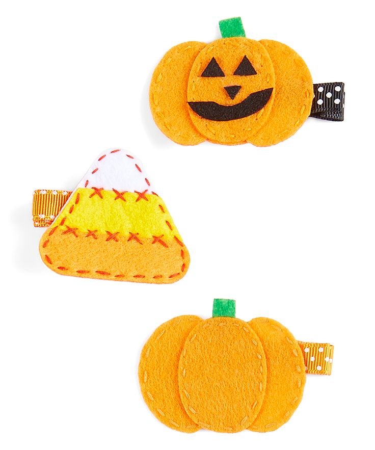 Halloween Hair Clips - Set of Three