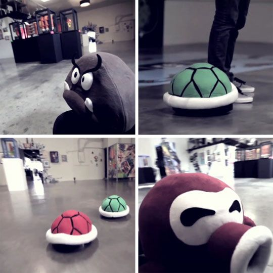 I've always wanted a Roomba. Now my nerd self wants it to have a Mario Bros character on top. How geeky and cute is that?