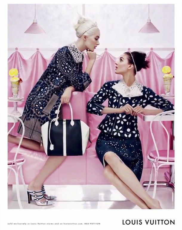 Louis Vuitton Spring 2012 Soda Fountain Ad Campaign: Daria Strokous & Kati Nescher by Steven Meisel   The Terrier and Lobster