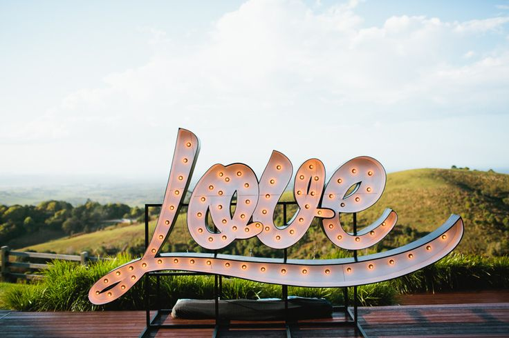 Byron Bay Giant Love Letters