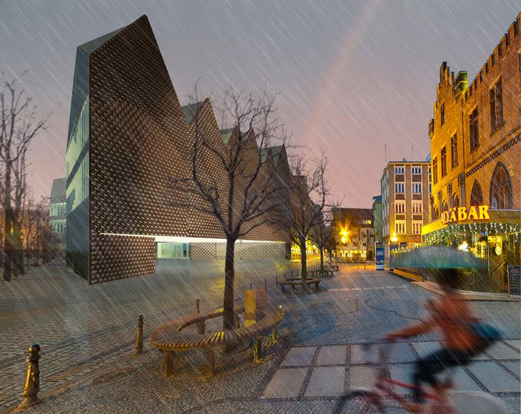 Kolobrzeg Townhall_architectual competition_honourable mention_maka estudio