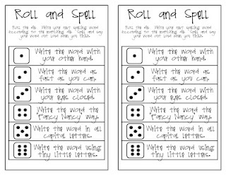 Roll and Spell activities from Oh My Little Classity Class