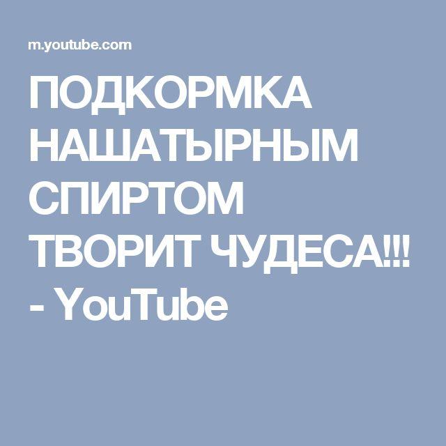 ПОДКОРМКА НАШАТЫРНЫМ СПИРТОМ ТВОРИТ ЧУДЕСА!!! - YouTube