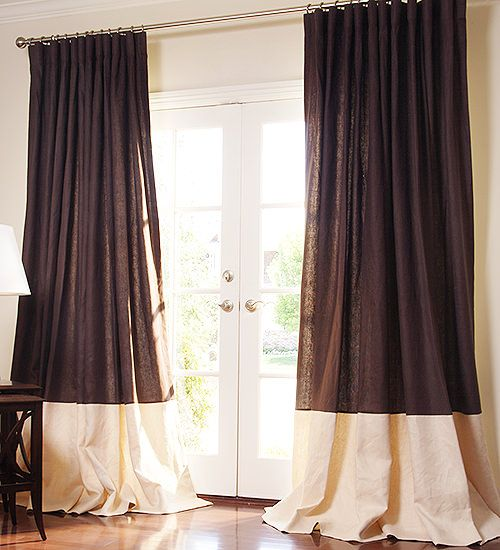 bottom banded drapes google search
