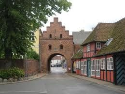 The old town gate in Faaborg, Denmark