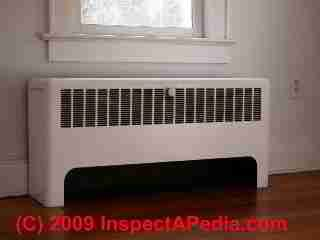 Heating convector unit (C) Daniel Friedman - two of these in our house, both recessed into the wall and likely leaking heat to the outside.