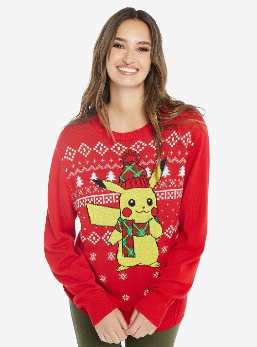 Pokémon Pikachu Ugly Holiday Sweater